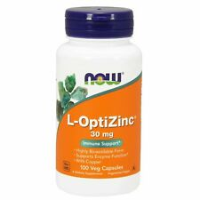 Now Foods L-OptiZinc 30 mg, 100 Veg Capsules with Copper IMMUNE, ENZYME SUPPORT
