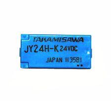 20pc Power Relay JY24H-K SPST 5A 250VAC Coil 24VDC UL CSA RoHS Takamisawa Japan