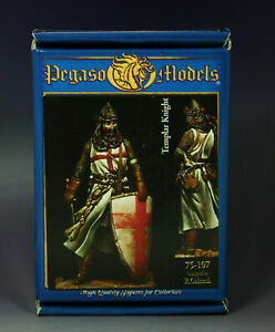 Original Metal Figure Kit- Pegaso Models 75mm -Templar Knight (75-107)