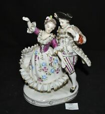 ThriftCHI ~ Vtg Figurine Man & Woman Dancing Victorian Dress Crossed Swords Mark