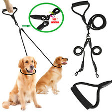 2 Way Dog Pet Coupler Double Dual Nylon Walking Leash No Tangle Lead