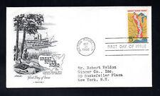 EE. UU. 1966 Great River Road FDC. uno gastos de envío para compras múltiples.