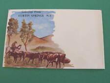Curtin Springs N.T. Australia unused pictorial illustrated Envelope