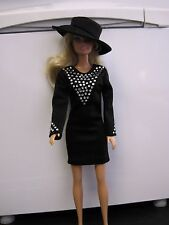 BARBIE DOLL CLOTHES/SHOES  *HANDMADE DRESS WITH MATCHING HAT*   *NEW*  aabb
