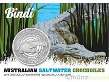 1 $ Dollar Salzwasserkrokodil Krokodil Bindi Australien 2013 1 Unze oz Silber