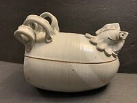 VTG PAUL ANTHONY STONEWARE FIGURAL CHICKEN COOKER ROASTER Art Pottery Sculpture
