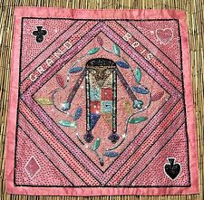 "Haitian Grand Bois Voodoo Vodou Drapo Flag with Beads, & Sequins 32"" x 31"""