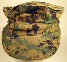 USMC Marine Corps MARPAT Woodland 8 Point Garrison Hat Cap Cover W/ EGA  Small
