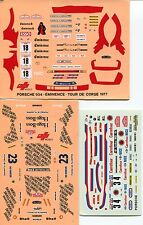 PORSCHE 911 AND 934 RALLY MONTECARLO TDC 3 COMPLETE VERSIONS 1983 DECALS 1/43