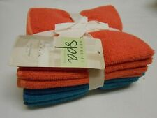 New lot Supreme Spa rose & teal microfiber 8 pack washcloths gift set