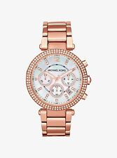 Michael Kors MK5491 Parker Rose Gold-Tone Blush Chronograph Women's Watch Ladies