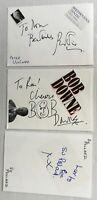 PETER USTINOV, BOB DOWNE Etc. Genuine Handsigned Signatures on 8 x 6 Pages.