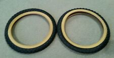 """2 NEW DURO BICYCLE TIRES,16""""x2.125 BLACK-GUMWALL , COMP 3 MX3 TYPE,CLEAN ,KIDS"""