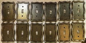 12 Victorian Solid Heavy Metal antique Vintage style Switch Wall Covers outlets