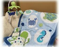 Kids Line Bubbles NURSERY SET Crib Sheet Comforter Skirt Valance Mobile Sea Life