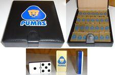 Pumas UNAM Dominoes Game Set Double Six Domino Man Cave Bar Cantina Pub Futbol