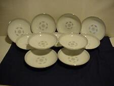 "SET OF 11 NORITAKE White Black Grey Swirl Pattern Bowls RC 278 RC278 7-1/2"""