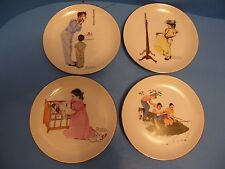Lot Of 4 Norman Rockwell'S Collector Plates By Zelda'S Of Apple Valley 13 1/4""