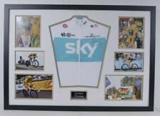 Geraint Thomas Signed Tour De France Yellow Jersey FRAMED AFTAL COA (B)