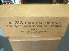LIONEL #313 BASCULE BRIDGE EMPTY BOX W/INSERTS - BOX IS NICE - MAKE OFFERS!!