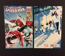 AMAZING SPIDER-MAN #17, 18 Comic Books Retailer Incentive VARIANT Marvel 2015 NM