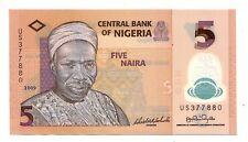 Nigeria 5 naira 2009  polimero    FDS UNC    Pick 32 b      Lotto 3835