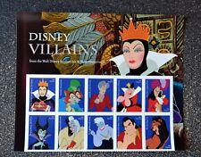 2017USA #5213-5222 Forever - Disney Villains - Header Block of 10  Mint