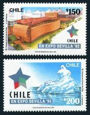 Chile 1008-1009,1009a,MNH. Mi 1500-01,Bl.22. EXPO-1992,Seville.Pavilion,Iceberg,