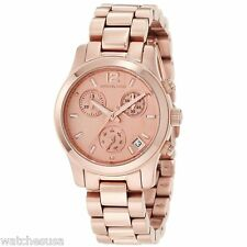 Michael Kors Women's Chronograph Rose Gold Tone Quartz Analog Watch MK5430