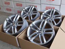 BBS SX Silber 4 Felgen 8,5x19 Zoll SX0501 für Audi A4 + S4 Typ B8 + B9 mit ABE
