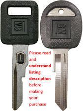 "NEW GM OEM VATS LOGO KEY BLANK + GM ""H"" DOORS/TRUNK LOGO KEY BLANK"