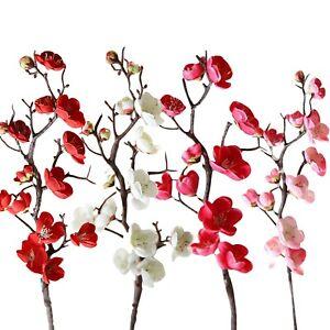 Artificial Cherry Blossom Flowers w/Tree Branch Stems for Home Wedding Decor