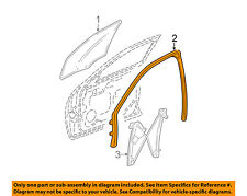 Cadillac GM OEM 03-07 CTS Front Door-Window Run Track Weatherstrip Left 25778965