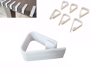 6 Table Cloth Clips Six Pack Tablecloth Cover Plastic Holder Clamps Free P+P