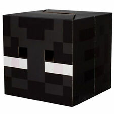 Minecraft Box Head Cardboard Fancy Dress Costume Party-Enderman