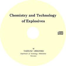 Chemistry and Technology of Explosives by Tadeusz Urbanski - Book on CD