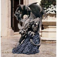 Medieval European Guardian Protector of the Realm Gargoyle Sculpture Decor