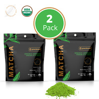 🍵100% USDA Organic Matcha Green Tea Powder - PURE PREMIUM Japanese (2 Pack) 🍵
