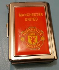 Double Ejection MAN UNITED Cigarette Lighter Case Box Holder Windproof Dispen