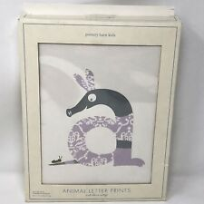 Pottery Barn Kids Animal Letter Prints Personalized Art Spell Name A-Z Alphabet