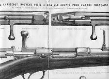 LE  FUSIL CHASSEPOT ADOPTE POUR L ARMEE----(L'ILLUSTRATION)  -1866--REGIONALISME