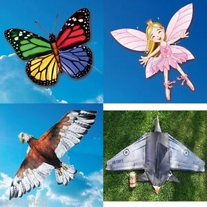 EOLO 3D Pop-Up Kite's Easy To Fly Butterfly, Eagle, Fairy Princess, Fighter Jet