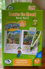 Leap Frog Learn To Read Book Set 2 Long Vowels Silent E&Y (works w/ Tag Reader)