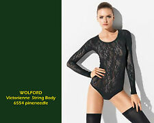 Wolford Victorienne String Body • L • pineneedle • Body aus ornamentaler Spitze