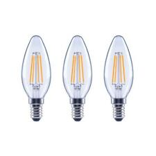 60-Watt Equivalent B11 Dimmable Clear Filament Vintage Style LED SW - 3 BULB PK