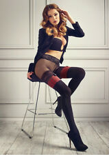 Patrizia Gucci for Marilyn Red Plaid Lace Band Thigh High School Girl Tights S/M