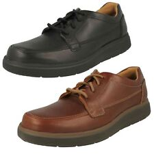 Mens Clarks Unstructured Un Abode Ease Leather Casual Lace Up Shoes