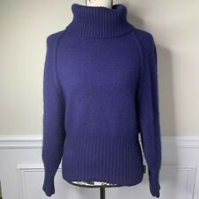 North Sails navy blue wool angora turtleneck pullover chunky sweater size M