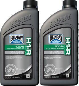 2 Bottles Bel Ray H1-R Synthetic Ester 2-Stroke Oil 1L BelRay Motorcycle ATV
