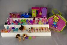 Polly Pocket doll lot car carriage accessories clothing pet seal Disney princess